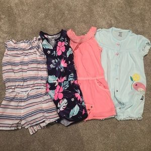 Like new 24 month girl summer onesies!